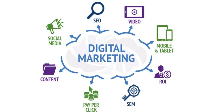 شاخه های دیجیتال مارکتیگ