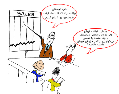 تصویر کارتونی دیجیتال مارکتینگ