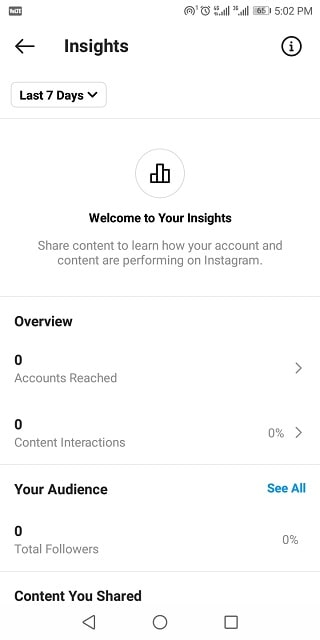 صفحه مشاهده آمار اینستاگرام