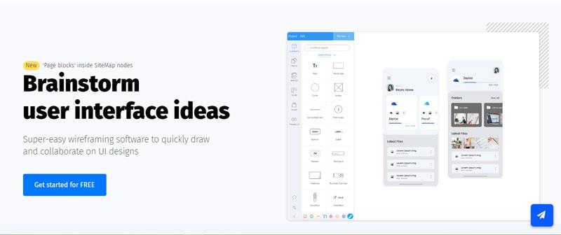 ابزار MockFlow برای طراحی ui