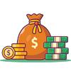 سکه و کیسه پول