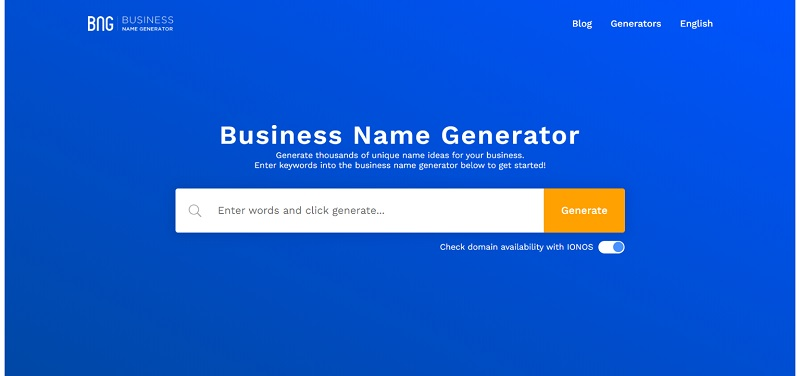 سایت bussinesnamegenerator.com