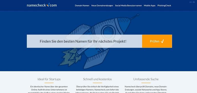 سایت namecheck.com